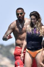 Melissa Satta On a yacht in Sardinia