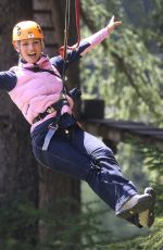 Michelle Hunziker At the Adventure Park in Colfoco