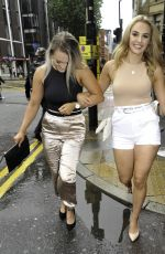 Mollie Winnard Enjoys boozy day out at Dirty Martini bar in Manchester City Centre, with friend Natasha