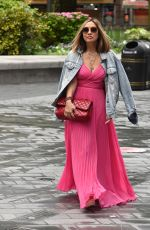 Myleene Klass Arriving at Smooth Radio in London