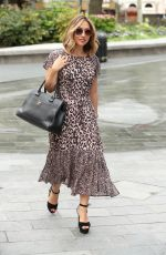 Myleene Klass Seen Arriving at Smooth Radio in London