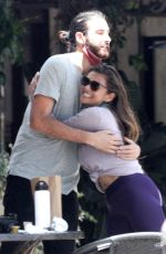 Nia Peeples Showcases her fit physique while out at lunch with family and friends in Malibu