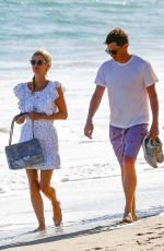 Nicky Hilton Enjoys a nice walk on the beach with her family in Malibu