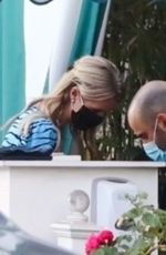 Nicky Hilton Gets her temperature checked before entering San Vicente bungalow in Los Angeles