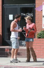Nicky Whelan Outside Bulletproof Coffee in Santa Monica