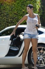 Nicole Murphy and a Friend Head Out for a Drive in Los Angeles