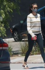 Nina Dobrev Out for a walk with Maverick in LA