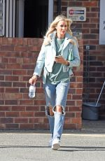 Olivia Attwood Leaving Beauty Cutie Hair Salon in Cheshire
