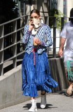 Olivia Palermo Looks stunning in another summer outfit while running errands in Downtown, Brooklyn