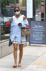 Olivia Palermo Pictured carrying her shoes after getting a pedicure at the Spa in Downtown, Brooklyn