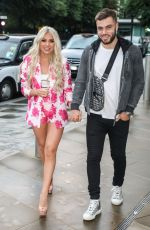 Paige Turley and Finlay Tapp spotted out for dinner at the Ivy Asia in London