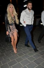 Paige Turley And Finn Tapp And Molly Smith And Callum Jones Enjoy Double Date Night At Dakota Restaurant Manchester
