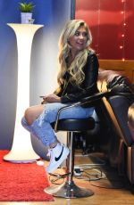 Paige Turley Arrives at Manchester recording studio
