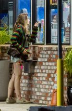 Paris Jackson In Denim Shorts at a Gas Station in Los Angeles