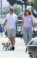 Patsy Palmer and her husband Richard Merkell spotted while out for a stroll with their 3 dogs in Malibu