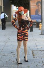 Phoebe Price Goes shopping with a face mask in Beverly Hills