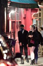 Rami Malek & Lucy Boynton Out for dinner at Vietnamese restaurant Cay Tre in Soho