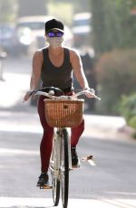 Reese Witherspoon Stays active on a bike ride in Brentwood