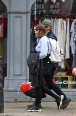 Rupert Grint & Georgia Groome Out for a stroll with their two-month-old daughter in London