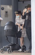 Rupert Grint & Georgia Groome Seen wearing face masks as they grabbed drinks with their baby girl in London