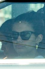Sara Sampaio Getting takeout with a friend but she stays in the car as friend gets the food