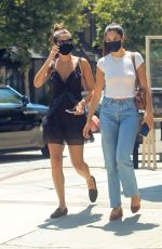 Sara Sampaio Sits down for an al fresco lunch with a friend at Urth Caffe Melrose in West Hollywood