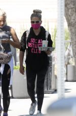 Sarah Michelle Gellar Wears a sweatshirt that reads SOCIAL DISTANCING CLUB in Brentwood