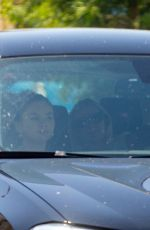 Selena Gomez Gets camera shy after treating herself to a Spa Treatment in Sherman Oaks