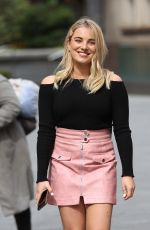 Sian Welby Outside Capital Radio in London