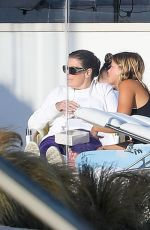 Sofia Richie Relaxing with her friends at a beach house in Malibu