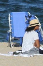 Solange Knowles Enjoys A Day At The Beach In The Hamptons With A Friend
