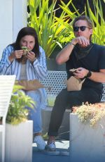 Sophia Bush Spotted enjoying a sandwich with new boyfriend Grant Hughes during a casual date out in Venice