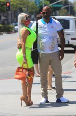 Sophia Vegas Shares a kiss with her husband after lunch in Beverly Hills