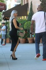Sophia Vegas Shows off her tiny waist without her face mask with her husband Daniel Charlier in Beverly Hills