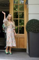 Sylvie Meis Returning back home to Hamburg from her hen night at a luxury hotel at the Baltic Sea with her female friends