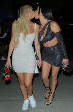 Tana Mongeau Arrives for a birthday dinner for Abby Raoe with friends at BOA stakhouse in West Hollywood
