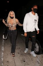 Tana Mongeau Out after dinner in West Hollywood