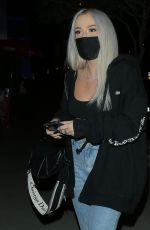 Tana Mongeau Shows off toned abs while out at BOA steakhouse in West Hollywood