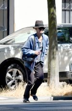 Vanessa Paradis Goes for a walk in Paris
