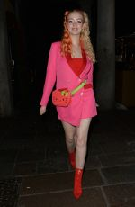 Victoria Clay Heading out for dinner in Mayfair for her first meal out since lockdown in London