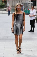 Zoe Hardman In checkered dress spotted out and about in London