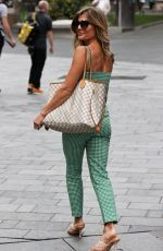 Zoe Hardman Steps out from Heart radio in Checked coords in London