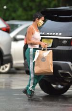 Zoe Kravitz Picks up some mexican take out food in Bedford, New York