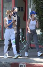 Abby Champion & Patrick Schwarzenegger Out walking with a friend after shopping at Maxfield clothing store in West Hollywood