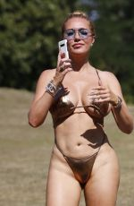 Aisleyne Horgan-Wallace In a bikini which leaves little to the imagination in London