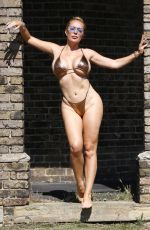 Aisleyne Horgan-Wallace In a gold bikini in the summer heat on the hottest day of the year in London