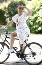 Aisleyne Horgan-Wallace out and about working up a sweat on her bike in the UK
