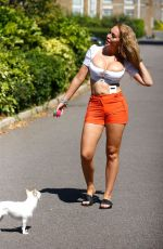 Aisleyne Horgan Wallace Takes her dog for a walk out in London
