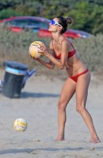 Alessandra Ambrosio As she hits the beach and plays volleyball with friends in Malibu