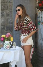 Alessandra Ambrosio At lunch with a friend at The Ivy in West Hollywood